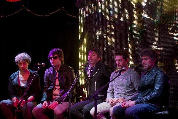 <p>La banda argentina Babasónicos durante una conferencia de prensa en México. (Foto Prensa Libre: AFP)<br></p>