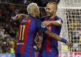 Messi marcó tres goles en la victoria azulgrana.