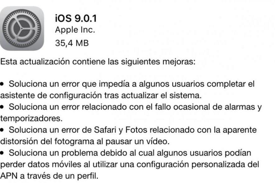 Apple realiza mejoras en su sistema y presenta la versión iOS 9.0.1. (Foto Prensa Libre: Hemeroteca PL)