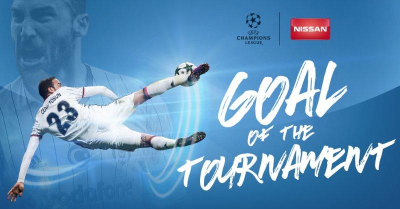 El gol de Tosun fue el elegido como el mejor de la temporada. (Foto Prensa Libre: Twitter Champions League)