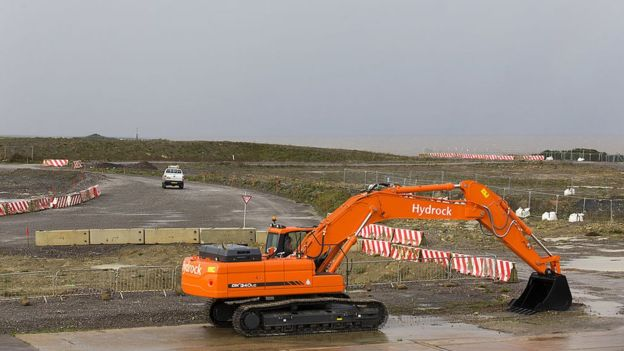 Hinkley Point C se ubicaría en este terreno en Somerset, en el suroeste de Reino Unido. GETTY IMAGES