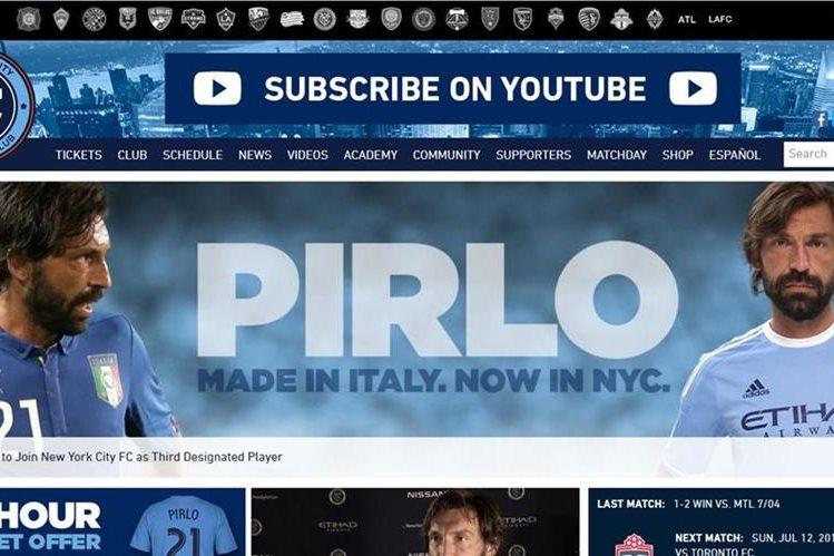 Esta es la publicación en la página oficial del equipo de Nueva York. (Foto Prensa Libre: Internet})