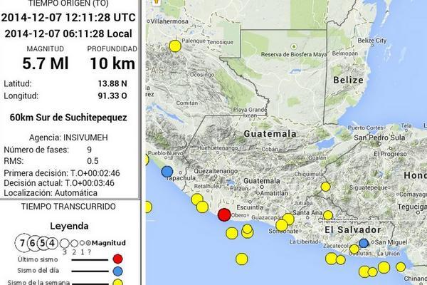 Alarma por temblores en todo el pas