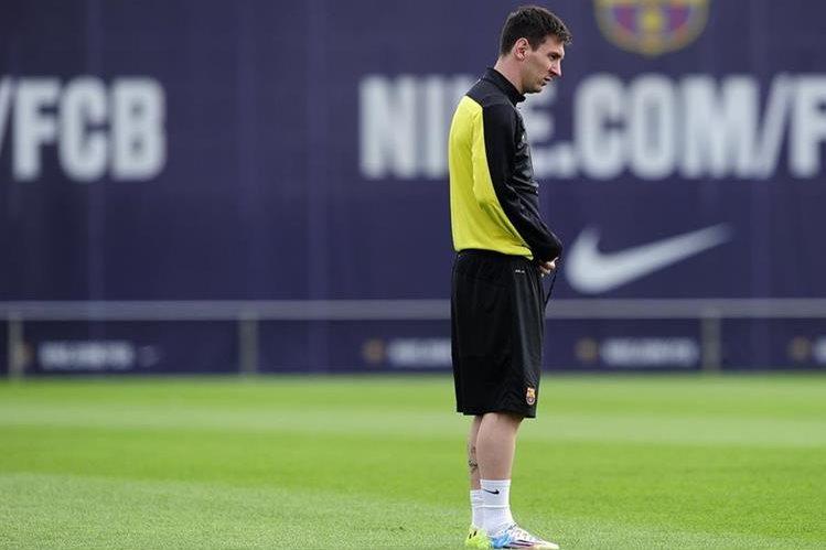 Messi ha tenido una evolución favorable de su lesión y podría ser titular mañana. (Foto Prensa Libre: Hemeroteca PL)