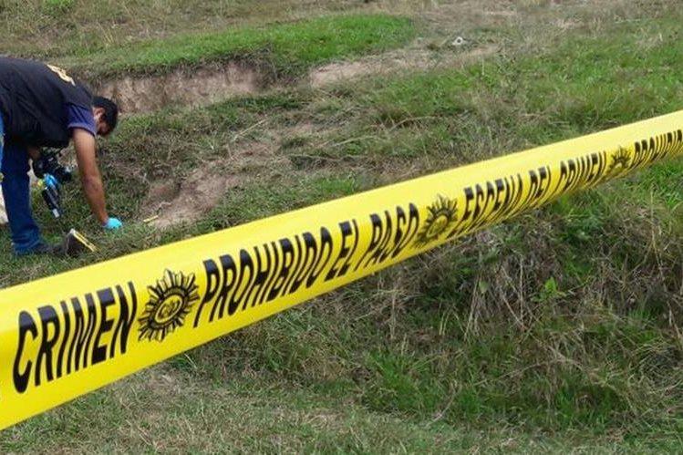 Área donde fue localizado el cadáver de Jorge Aníbal Arana Solís, en Jalapa. (Foto Prensa Libre: Hugo Oliva).