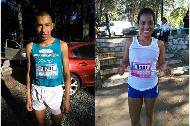 Alberto González y Merlín Chali festejan luego de finalizar la competencia. (Foto Prensa Libre: Cortesía La Red)