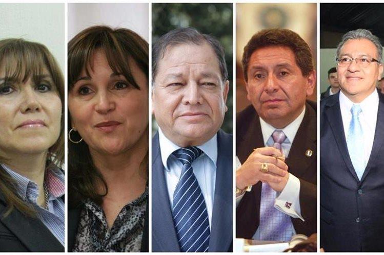 Anoche quedó integrada la nueva Corte de Constitucionalidad para un periodo de cinco años. (Foto Prensa Libre)