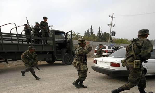 Tercer enfrentamiento en menos de un mes que se registra en San Fernando, Tamaulipas,México. (Foto Prensa LIbre;AFP).