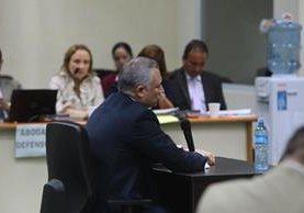 González declara ante el juez Gálvez. (Foto Prensa Libre: Álvaro Interiano)