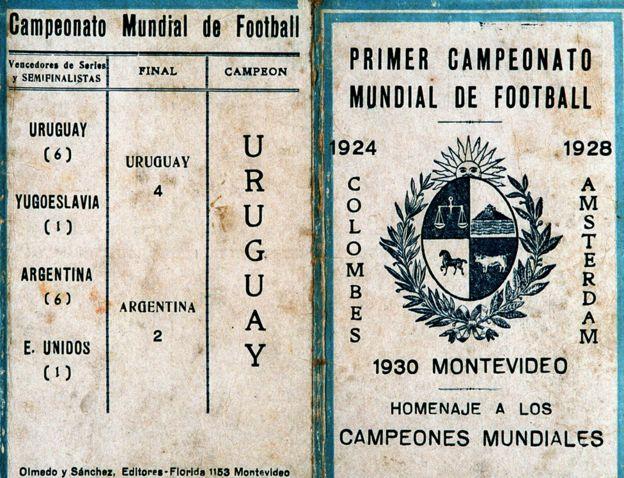 Un recuerdo de la final de la primera copa del mundo en Uruguay en 1930, torneo en el que participaron 13 países. Getty Images
