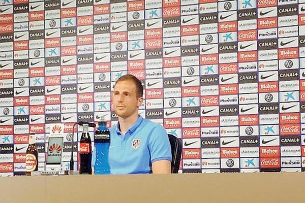 El portero del Atlético de Madrid compareció este viernes en conferencia de prensa tras el entreno de su equipo. (Foto Prensa Libre: Atlético de Madrid)