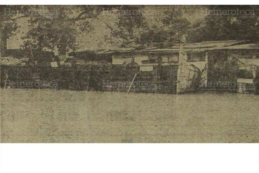 Viviendas afectadas por inundaciones en la capital, en septiembre de 1970. (Foto: Hemeroteca PL)