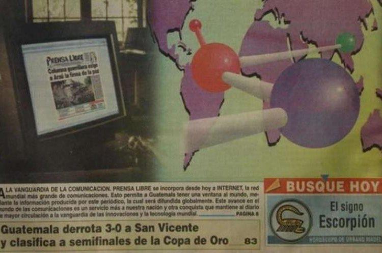 El 17 de enero de 1996 Prensa Libre se integra a internet.