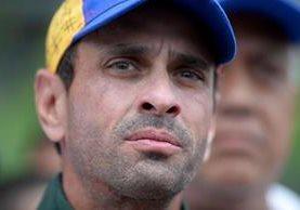 Uno de los principales líderes de la oposición en Venezuela, Henrique Capriles, fue denunciado. (Foto Prensa Libre: AFP)