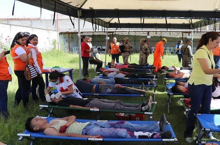 En la actividad participaron varias instituciones.(Prensa Libre: Hugo Oliva.)