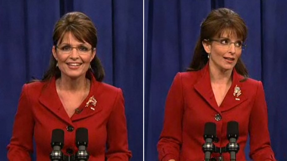 Imagen de Tina Fey imitando a Sarah Palin (Foto Prensa Libre: Hollywood Reporter).