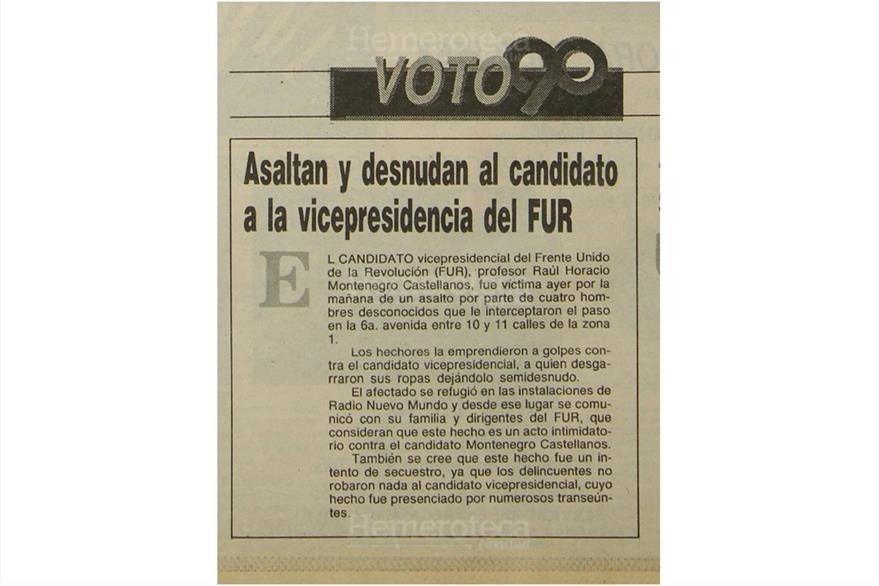 Incidente en vísperas de las elecciones de 1990. (Foto: Hemeroteca PL)