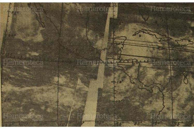 Foto satelital de la ruta del Huracán Fifí, en septiembre de 1974. (Foto: Hemeroteca PL)