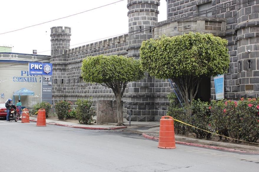 Sede policial de Chimaltenango. (Foto Prensa Libre: Víctor Chamalé)