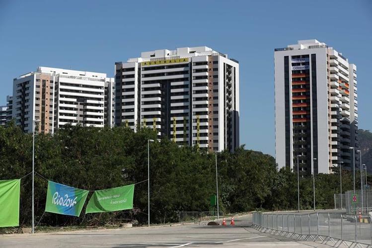 Estos son los edificios que alojarán a los deportistas de Australia (c) y Alemania (d) en la Villa Olímpica para los Juegos Olímpicos de Río 2016. (Foto Prensa Libre: EFE)
