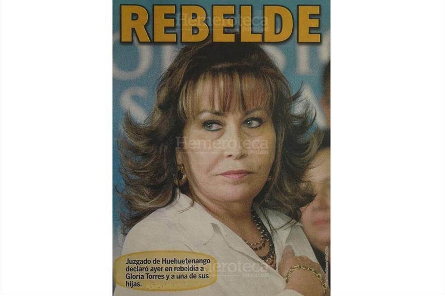 portada de periódico regional de Huehuetenango del 15/12/2011,con Gloria Torres declarada en rebeldía. (Foto: Hemeroteca PL)