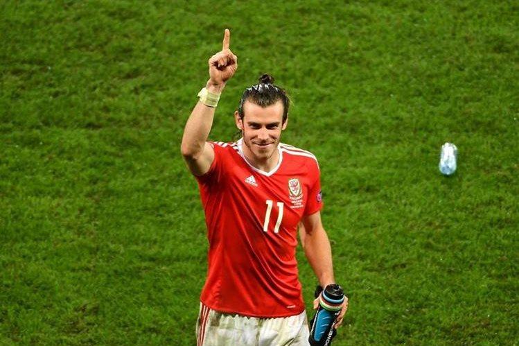 Gareth Bale festeja el triunfo sobre Bélgica. (Foto Prensa Libre: EFE)