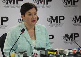 La fiscal general Thelma Aldana en junio del 2016 que estructuras del crimen organizado planean un atentado en su contra. (Foto Prensa Libre: Hemeroteca PL)