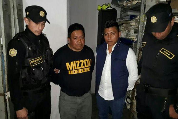 Samuel Juan Rodas y José García Juan son acusados de extorsionar a un panadero a cambio de no secuestrarlo. (Foto Prensa Libre: Cortesía PNC)