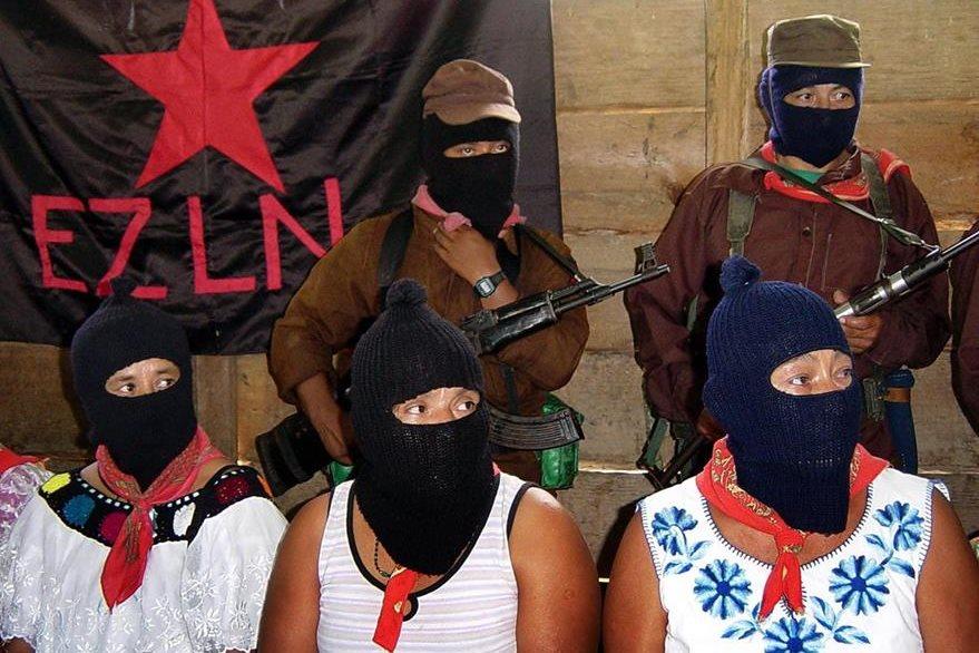 Miembros del Ejército Zapatista de Liberación Nacional, en Chiapas. (AFP)