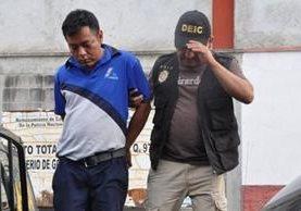 Byron Estuardo Felipe Morales, capturado en julio del año pasado, fue condenado a 40 años de prisión por la muerte del periodista Víctor Hugo Valdez. (Foto Prensa Libre: Mario Morales)