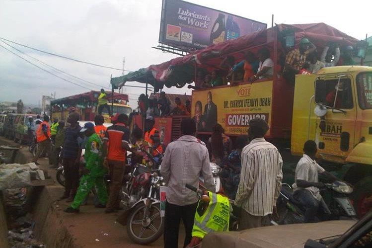 Localidad de Nnewi, en Nigeria, donde una explosión de gas dejó decenas de muertos. (internet)
