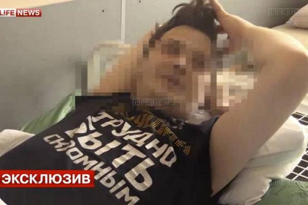 El actor Dmitry Nikolaev durante una entrevista televisiva. (Foto Prensa Libre: Daily Mail)