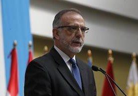 Iván Velásquez expone los resultados del año de trabajo de Cicig. (Foto Prensa Libre: Paulo Raquec)