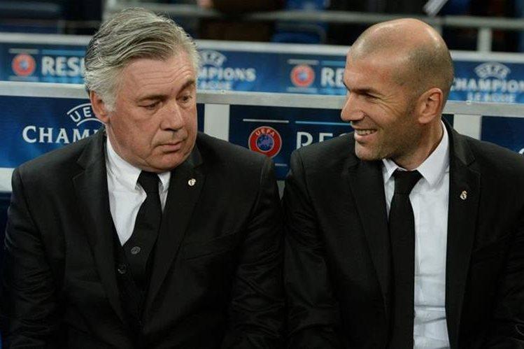 Carlo Ancelotti fue el maestro de Zidane en el Real Madrid. (Foto Prensa Libre: Tomada de internet)