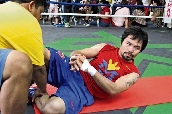 El boxeador filipino tiene en mente un eventual retiro del cual no ha precisado una fecha exacta. (Foto Prensa Libre: AFP)