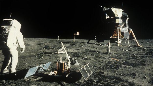 Buzz Aldrin en la sonda que se separó del Columbia (SCIENCE PHOTO LIBRARY)