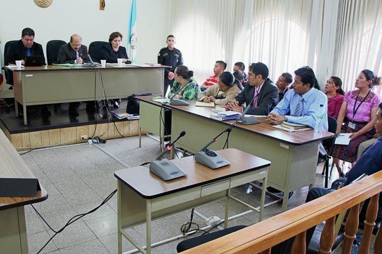 Tribunal de Totonicapán donde se dictó condena contra nueve secuestradores. (Foto Prensa Libre: Édgar Domínguez)