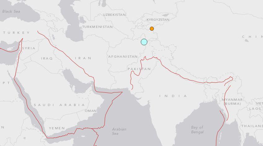 Un terremoto de magnitud 6.6 sacudió a Afganistán y puntos cercanos. (Foto Prensa Libre: earthquake.usgs.gov)