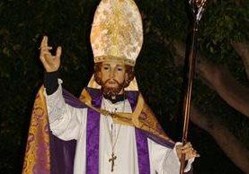 Imagen de San Emigdio, en la iglesia de San Andrés de Almoradí, en España, en donde también es venerado (Foto Prensa Libre: Orihuela Cofrade).