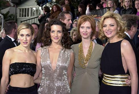 Kristin Davis, Sarah Jessica Parker, Kim Cattrall, y Cynthia Nixon en una fotografía captada en el 2001.