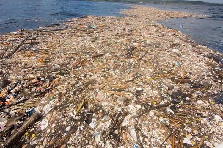 Los desechos plásticos fueron ubicados cerca de la isla de Roatán, Honduras, donde amenazan la vida de decenas de especies de peces. (Foto Prensa Libre: Facebook Caroline Power)