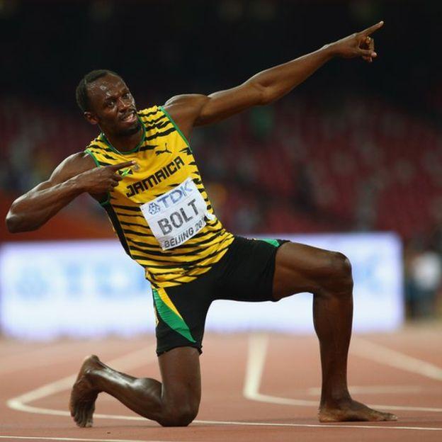 El mundo extrañará la característica celebración de Usain Bolt. (Getty)