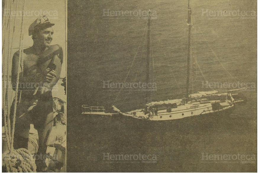 28//6/1965 Steven Cochran famoso actor norteamericano,  murio a bordo de un velero frente a las costas de Guatemala.(Foto: Hemeroteca PL)