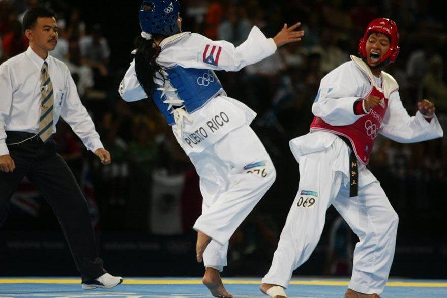 Heidy Juárez seleccionada guatemalteca de Taekwondo estuvo cerca de lograr una medalla olímpica en Atenas 2004. (Foto: Hemeroteca PL)