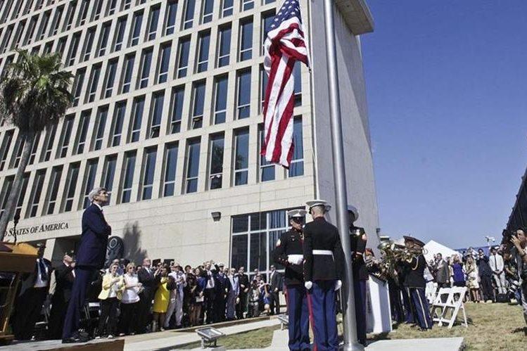 EE.UU. y Cuba celebran la reapertura de embajada el 14 de agosto del 2015 en La Habana. (AFP).