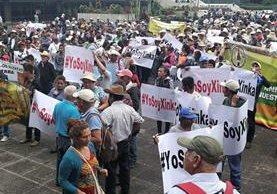 La protesta xinca pasará por el Congreso y la Corte de Constitucionalidad. (Foto Prensa Libre: Estuardo Paredes)