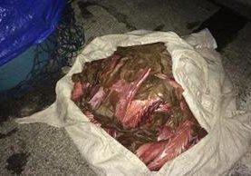 """<p>Parte de la carne de pez vela decomisada, en Palín, Escuintla. (Foto Prensa Libre: Enrique Paredes) <br _mce_bogus=""""1""""></p>"""