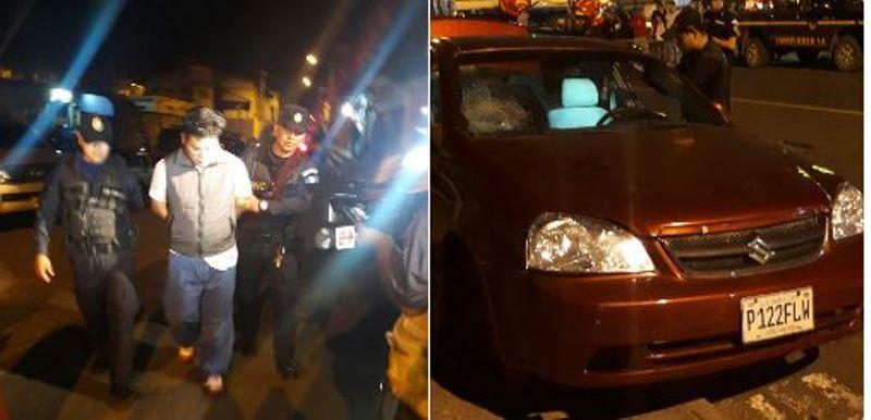 La PNC capturó a José Luís Guillermo Pérez Zelada, de 37 años, por trasladar restos humanos a bordo de un automóvil. Foto Cortesía: PNC.