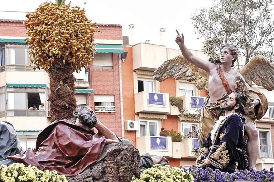 Procesión de la Oración en el Huerto en España, las procesiones de este país son íconos famosos en el mundo por su suntuosidad. (Foto: EFE)