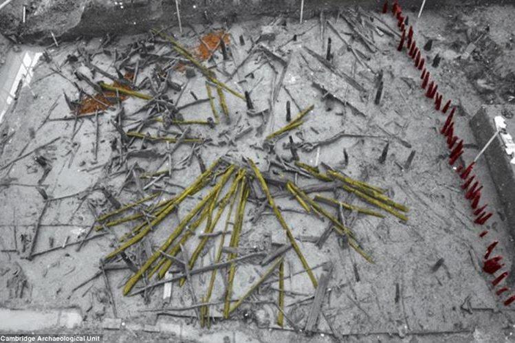 """<span class=""""hps"""">La rueda de madera fue encontrada en la zona arqueológica de Must Farm.</span>"""